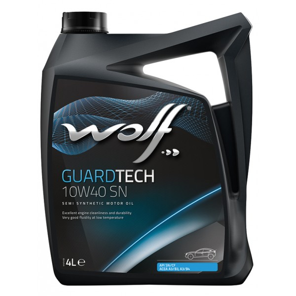 WOLF 16127/4 GuardTech 10W-40 SN 4л моторное масло