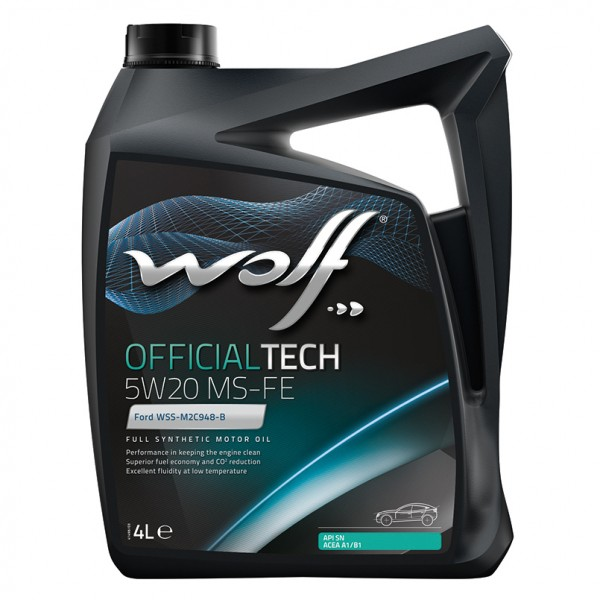WOLF 65612/4 OfficialTech 5W-20 MS-FE 4 л моторное масло